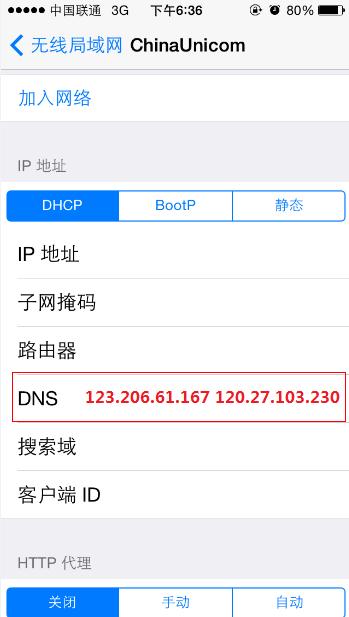 iOS 设置DNS方法