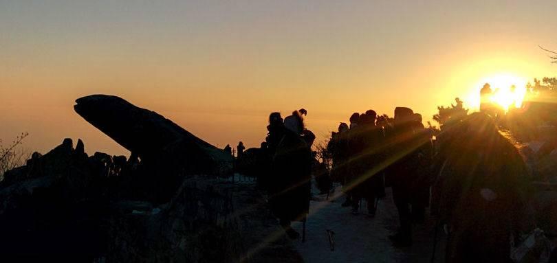 泰山 日观峰 夜爬泰山