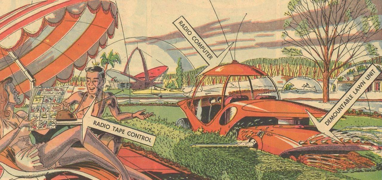 Retro-futurism illustrator